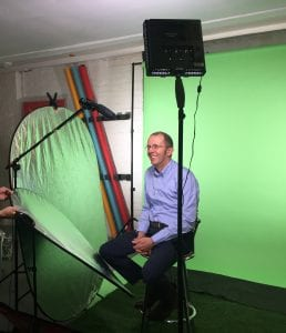 Dr Phil Caunt behind the scenes at our Genesis Biosciences videoshoot