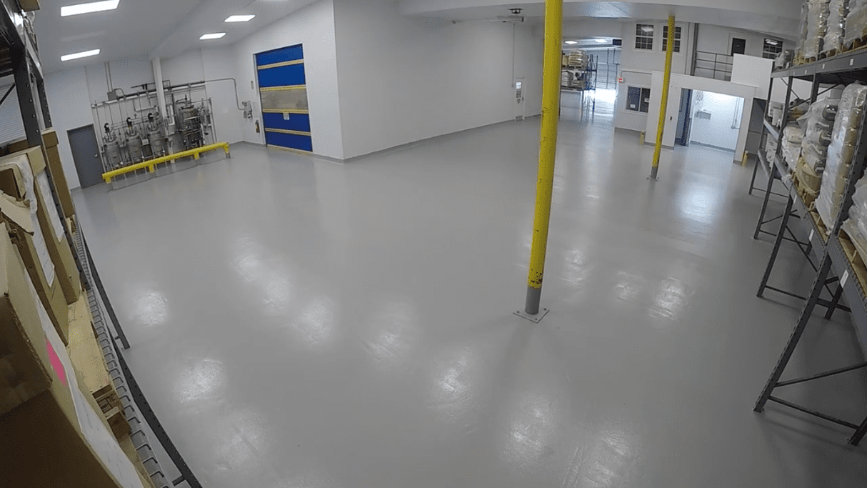 Time-lapse video: Watch our brand new antimicrobial floor being fitted in our US facility