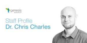 Dr Chris Charles, Research Scientist at Genesis Biosciences