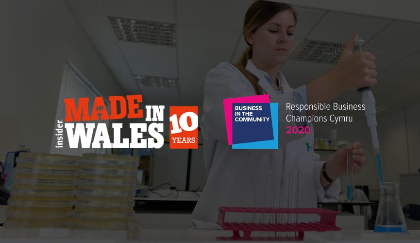 Genesis Biosciences is a finalist in 2 upcoming prestigious awards in Wales