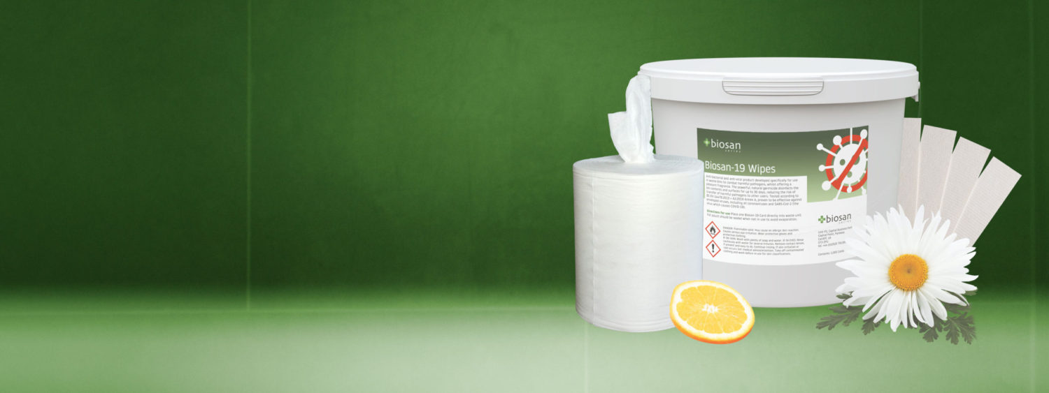 *NEW* Biosan-19 now available – disinfectant cards for PPE and sanitary bins