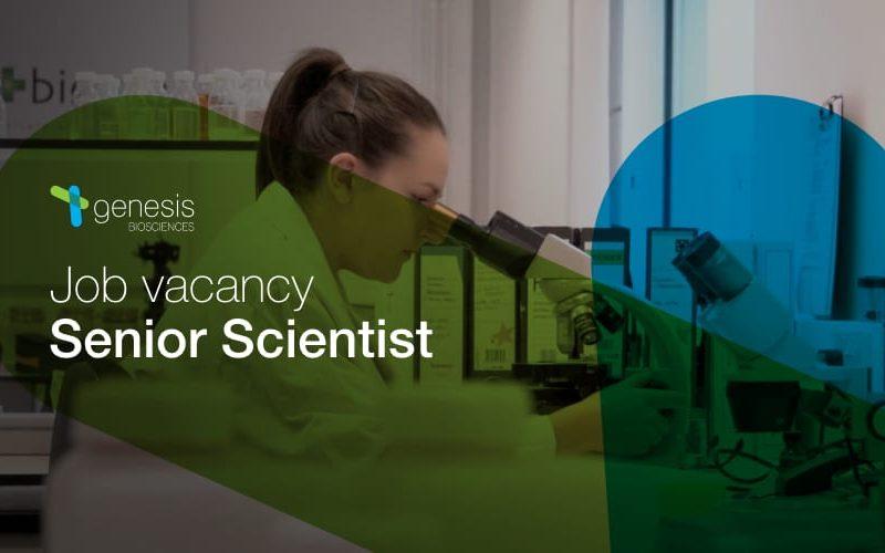 Job vacancy: Senior Scientist
