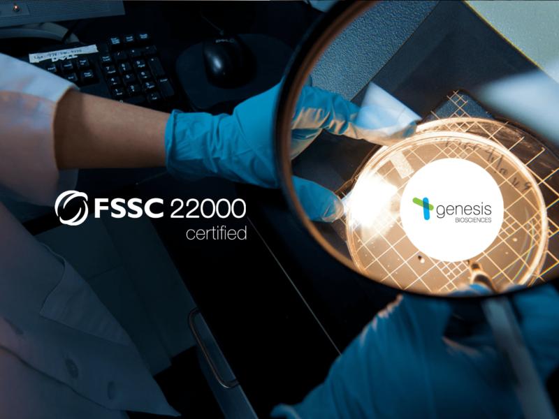 Genesis Biosciences is now officially an FSSC 22000 certified company